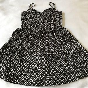 Ann Taylor Loft Spaghetti Strap Print Comfy Dress